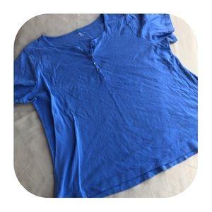 6/$15 Croft & Barrow 2X blue T-shirt
